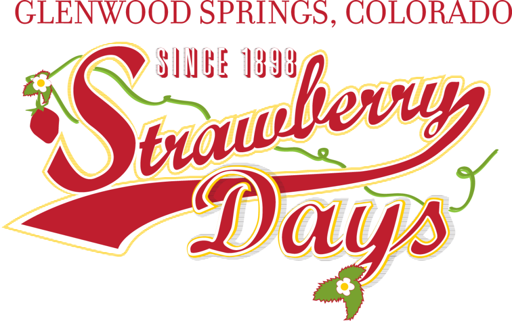 Glenwood Springs Strawberry Days - info at http://nwcoloradoheritagetravel.org/ (Picture of logo)