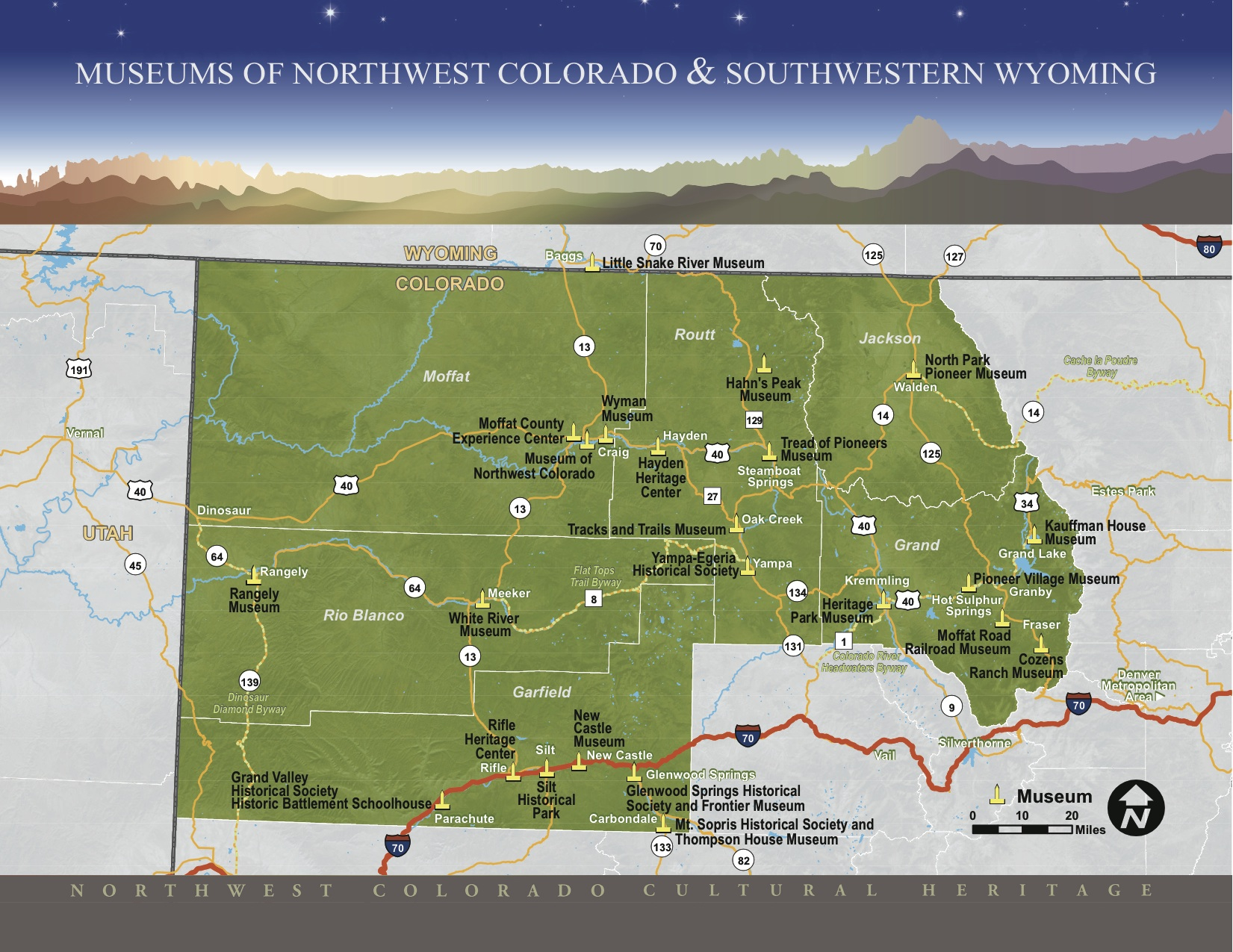 Nw Colorado Map.Museum Map Nwcchp